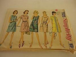 Vintage 1960s Simplicity Size 14 7025 dress  cut pattern - $9.89