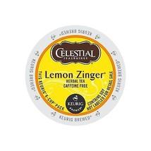 Celestial Seasonings Lemon Zinger Tea, 24 K cups, FREE SHIPPING Keurig Kcup ! - $18.99