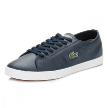 Lacoste Men's Marcel Riberac LCR3 SPM Leather Shoes Trainers - Navy - $84.91