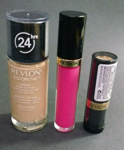 Lot of 3 Revlon, Cosmetics/Makeup, Various Items, AS PICTURED, B32-4 - $11.61