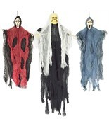 Set of Three Scary Hanging Skeleton Ghost Spooky Halloween Decorations Prop - £26.66 GBP