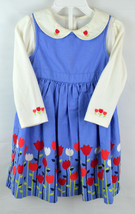 Gymboree 2T Girls Outfit 3 piece dress long sleeve body suit shirt bloom... - $14.99