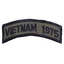 Vietnam 1975 Od Subdued Shoulder Rocker Tab Embroidered Military Patch - $23.74