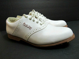 FootJoy GreenJoys Womens 8 1/2  8.5 Off White Vegan Leather Golf Shoes 4... - $39.05