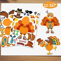 Make-A-Turkey Stickers Thanksgiving Party Games/Favors/Supplies For Kids... - $27.26