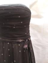 BCBG MaxAzria M Strapless Dress Brown Polka Dot Tulle Ribbon Tie Prom - $35.26