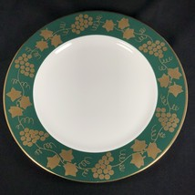 """Crate & Barrel Green Gold Grapes Leaves Dinner Plate 10 3/8"""" 93116 - $19.79"""