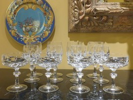 Gorham Crystal Alexandra 12PC Serving For 4 - Stunning And Unique! - $129.00