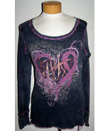 Macy's Susan G Komen Breast Cancer Foil Tattoo Heart Tee Shirt Top Size ... - $48.00