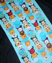 Tsum Tsum Mickey & Friend Design Disney Character Blue 60 X 120 Cm Cotton Towel - $13.99
