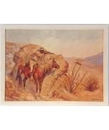 Apache Ambush Frederic Remington Lithograph Shorewood Publishers Signed ... - $14.75