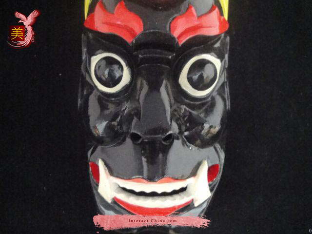 Aboriginal Ritual Nuo Dance Wall Mask #103 Master Level
