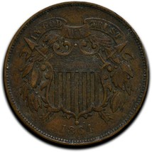 1864 Two 2 Cents Coin Lot# A 525