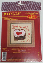 RIOLIS Heart Cake Dessert Embroidery Cross Stitch Kit #1253 NEW Dolce Vi... - $9.99