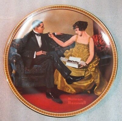 """Vintage NORMAN ROCKWELL """"Flirting in the Parlor"""" KNOWLES 1983 COLLECTOR PLATE!"""
