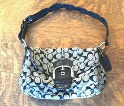 Coach Soho Pocket Flap Black Purse Handbag M0769-11862 Signature Shoulde... - $17.81