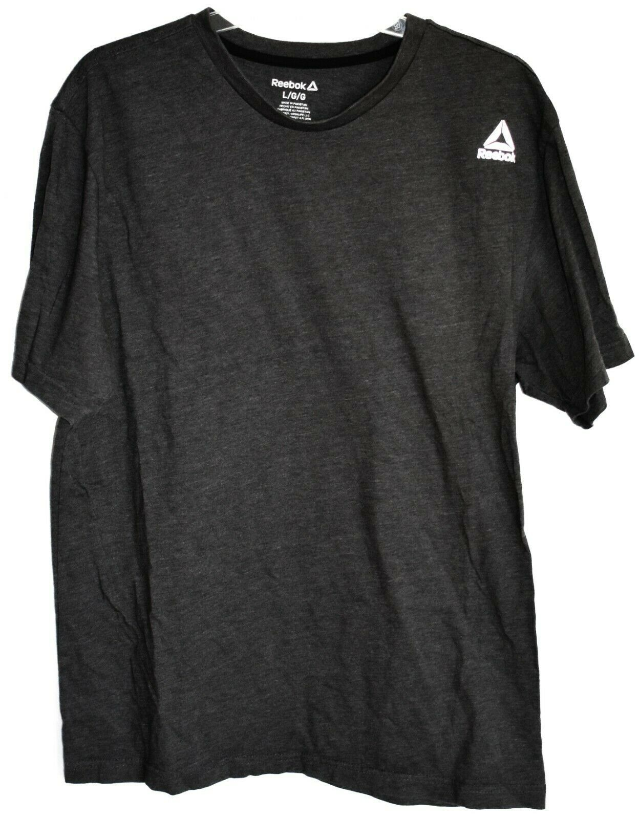 Reebok Men's Dark Gray Cotton Blend Crew Neck T-Shirt Size L