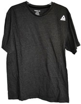 Reebok Men's Dark Gray Cotton Blend Crew Neck T-Shirt Size L