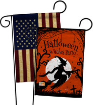 Witches Party - Impressions Decorative USA Vintage - Applique Garden Fla... - $30.97