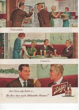 Schlitz Vintage Print Ad Beer That Made Milwaukee Famous 1949 American M... - $8.91
