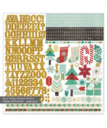 "Pink Paislee  Snow Village Cardstock Stickers Element 12""X12"" - PP01024 - $3.07"