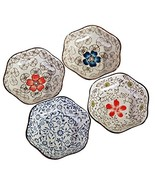 4 PCS Colored Glaze Plates Exquisite Dishes Tableware Relish Tray-02 - $32.40