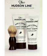 The Hudson Line Shaving Set With Brush Shaving Cream & Post Shave, pine/... - $19.99