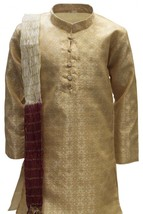 Krishna Sarees BYK3168 Cream and Maroon Boys Kurta Pyjama Indian Fancy D... - $26.43+