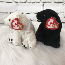 Ty Beanie Baby Bears Lot Of 2 Cinders & Aurora Black & White - $9.89