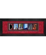 Dallas,Texas 8 x 20 Framed Letter Art Print - $39.95