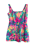 Gaba One Piece Swimsuit Pink Aqua Flora Size 14 - $20.00
