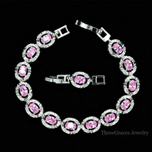 ThreeGraces Women Jewelry Gift Fashion Crystal Charm Bracelet With CZ St... - $10.99
