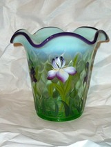 Fenton Vase Designer Showcase Series Willow Opalescent Purple Iris By B ... - $69.29