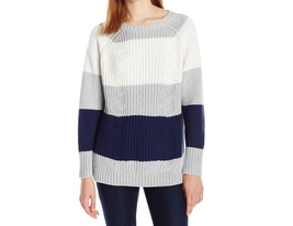 NEW TWO by VINCE CAMUTO Size XL Women's Long Sleeve Color Block Sweater - $49.00