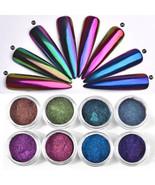 Chameleon Nail Art Mirror Mermaid Chrome Effect Pigment Glitter Dust Pow... - $11.90