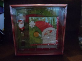 CHRISTMAS Santa Cheese Cutting Board with Cheese Spreader & Napkins ~ Gi... - $11.00