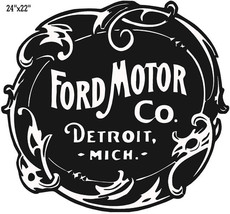 "Ford Motor Laser Cut Out Reproduction Garage Shop Sign 22""x24"" - $52.47"