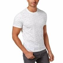 Alfani Men's Stretch Geometric Print T-Shirt White Large - $24.75