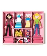 Melissa & Doug Magnetic Wooden DressUp Dolls Clothing Abby & Emma 60 Pie... - $19.75