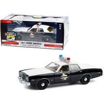 1977 Dodge Monaco Texas Highway Patrol Police Car Black and White Hot Pursuit... - $44.37