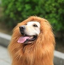 Looching Lion Mane Dog Costume Wig Brown - $246,78 MXN