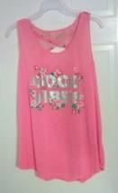 Bobbie Brooks Woman's Pink Sleeveless Graphic Top - GOOD VIBES - Plus Si... - $7.73