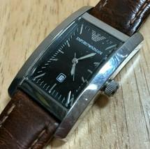 Emporio Armani AR-0119 Mens Ultra Curved Analog Quartz Watch Hours~New B... - $32.29