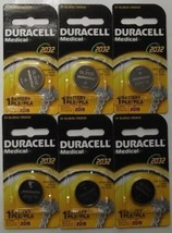 Duracell 3V DL2032 / CR2032 Lithium Battery 6 Pieces Date 2019 Japan - $2.97