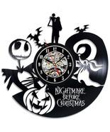Nightmare Before Christmas Vinyl Record Wall Clock  Cartoon Them CD Reco... - $52.86