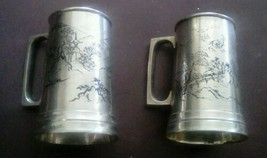 Set of 2 CPO Central Purchasing Office Occupied Japan Silverplated Mugs - $45.58