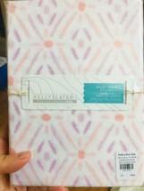 Pottery Barn Teen Malai Sheet Set Blush Pink Queen Geometric Kelly Slater - $133.84