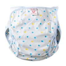 Washable Waterproof Baby Toddlers Pant Newborn Infant Reusable Diaper Blue Spots
