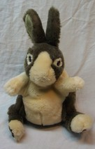 "Folkmanis WHITE AND GRAY BUNNY RABBIT HAND PUPPET 9"" Plush STUFFED ANIMA... - $19.80"