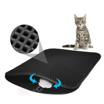 Waterproof Pet Cat Litter Box Mat Double Layer Trapper Pad Trapping Rubb... - $14.36+